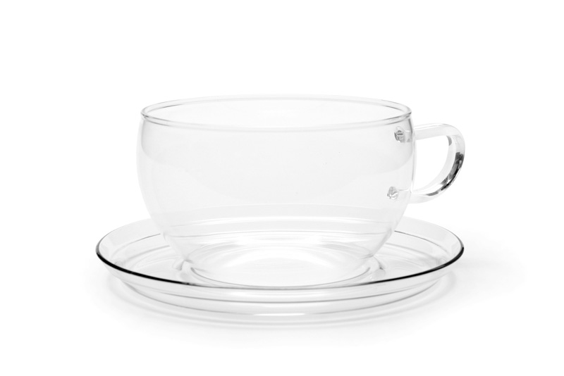Jumbo 0.4 l - glass cup with saucer
