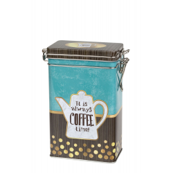 Blue Coffee 250 g square with clip closure