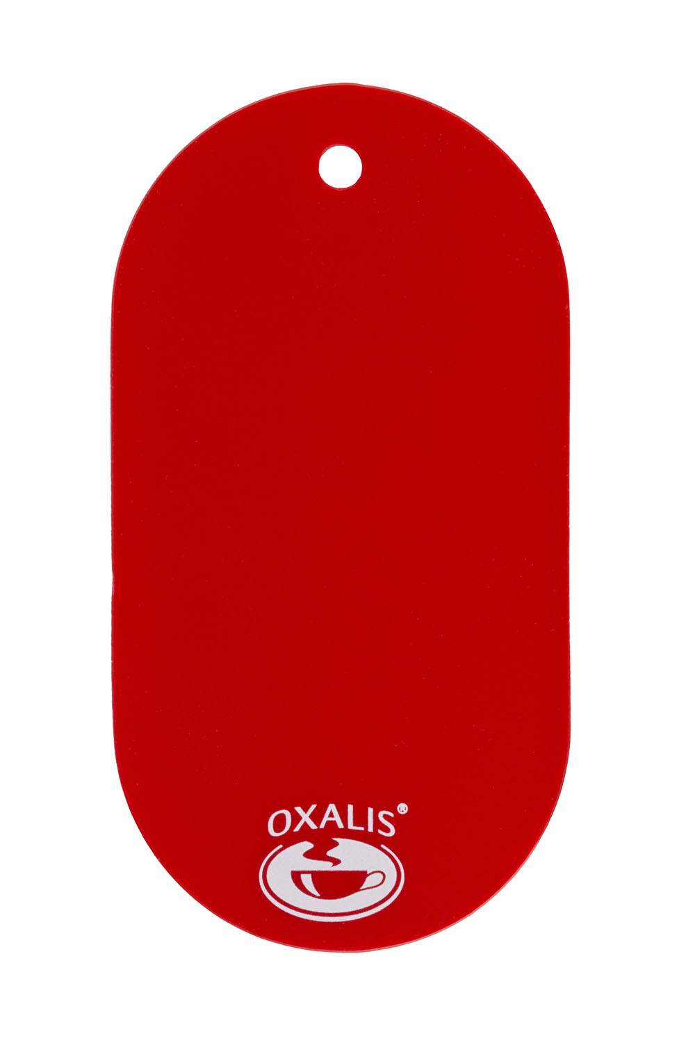 Plastic hanging label - red