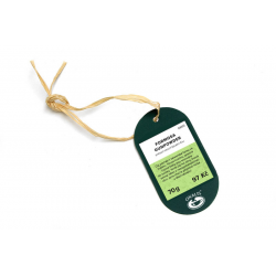 Plastic hanging label - green