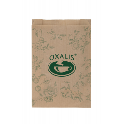 Retail Paper Bag - natural with Oxalis logo