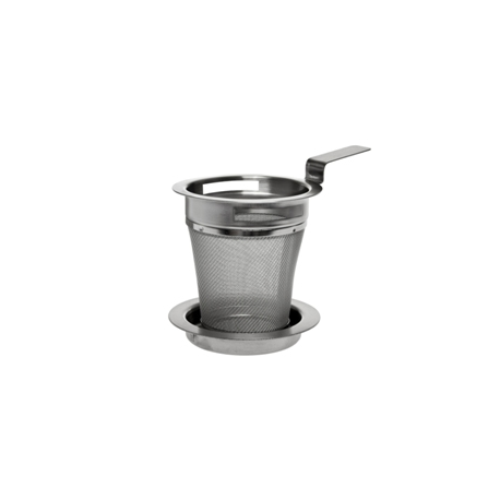 Teapot strainer 5 cm with a drip tray