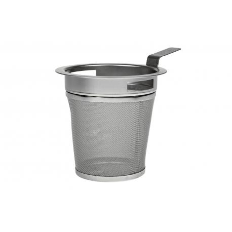 Mug strainer 7.2 cm with a drip tray