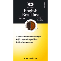 English Breakfast paper card