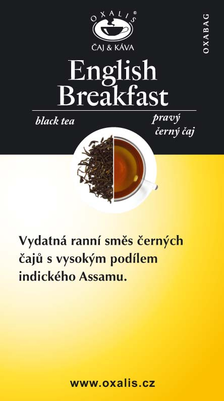 English Breakfast paper card