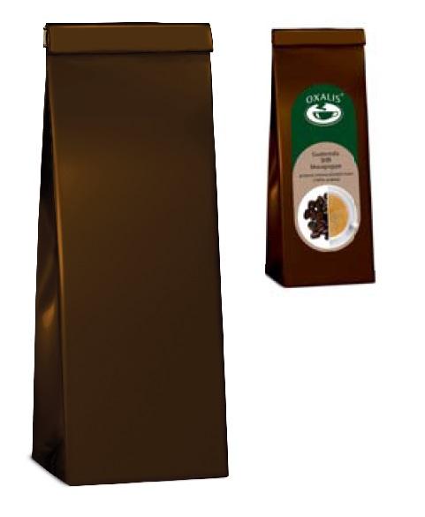 3-ply bag for tea - brown 50 - 100 g