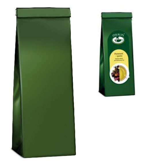 3-ply bag for tea - green 250 g