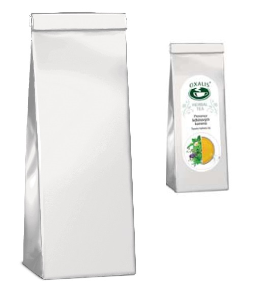 2-ply bag for tea - white (8 x 5 x 20 cm) - herbs