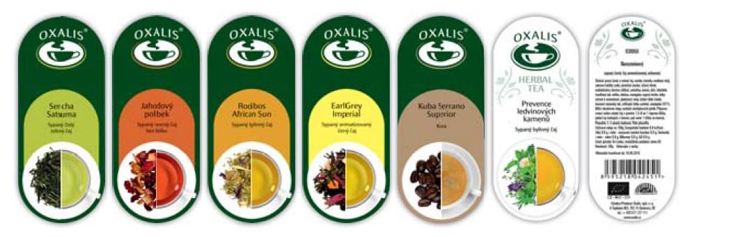 Barevná etiketa - párová k čaji/kávě