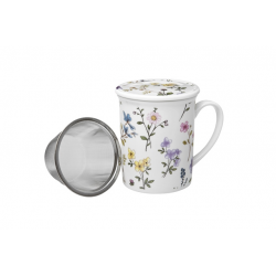 Herbs Violet porcelain mug 0.25 l