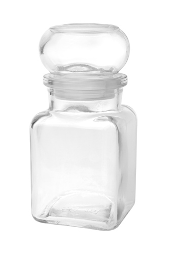 Glass jar 150 ml - square, hermetic