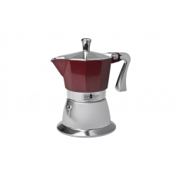Moka pot, red