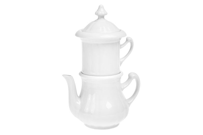 Karlovarský příbor Tradiční 0,85 l - porcelánová konvička s filtrem