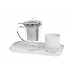 Itaka glass mug 0.4 l with a lid