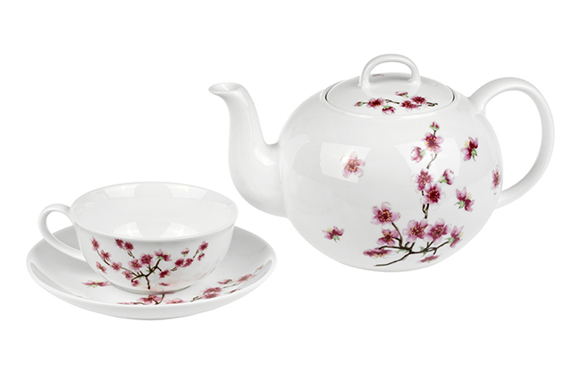 Cherry Blossom - porcelain cup and saucer 0.2 l