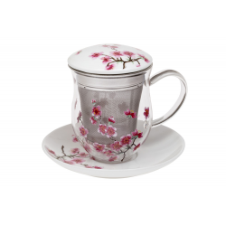 Cherry Blossom - glass mug 0.35 l