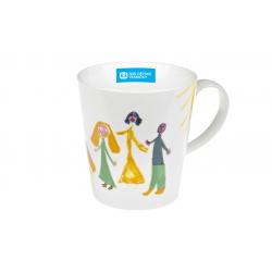 Veselá rodinka 0,3 l - porcelánový hrnek