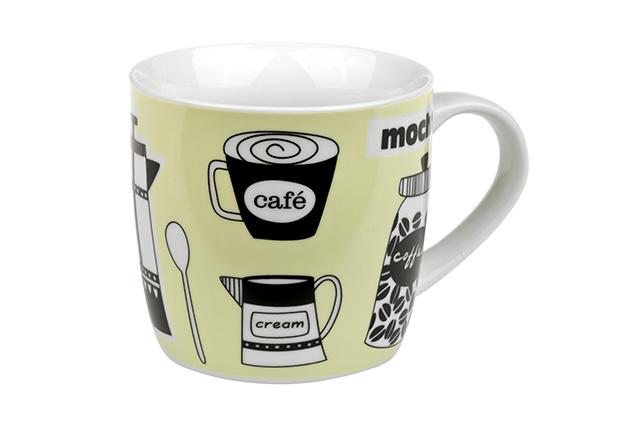Green Coffee Break - porcelain mug 0.3 l