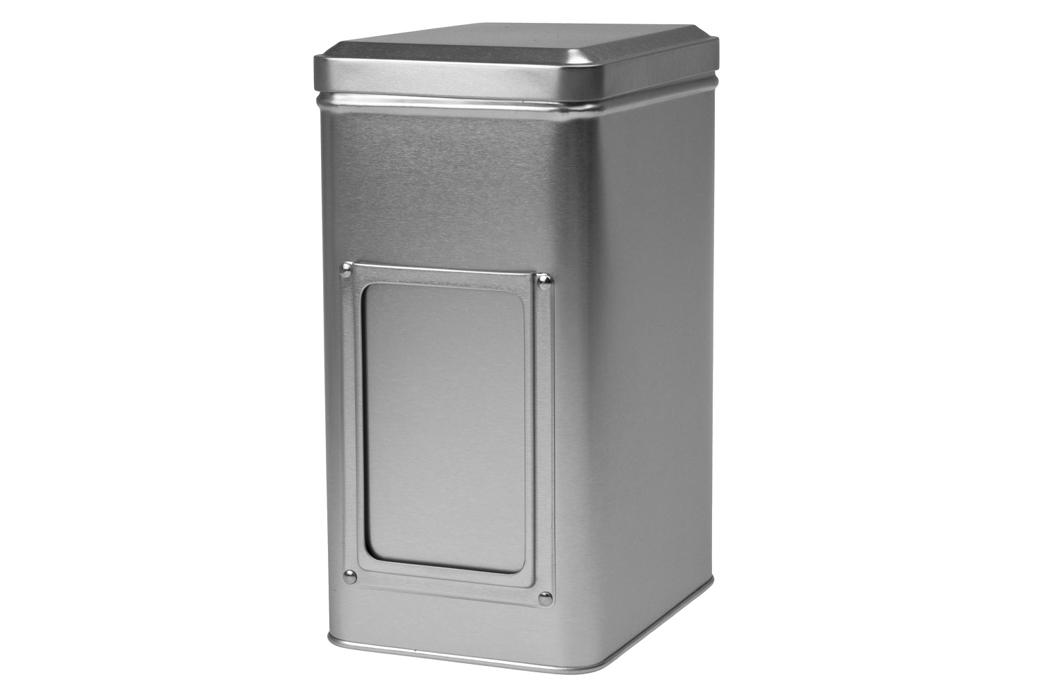 Silver tin caddy 500 g