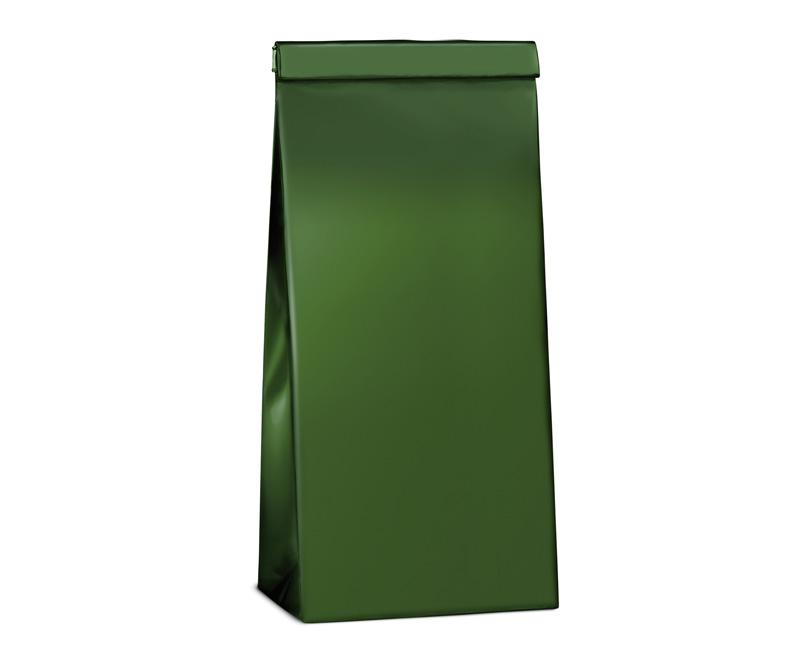 Sáček třívrstvý s ohybem - zelený na čaj 500g