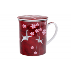 Origami - porcelain mug 0.35 l with stainless steel strainer