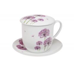 Ellis - porcelain mug 0.35 l with stainless steel strainer