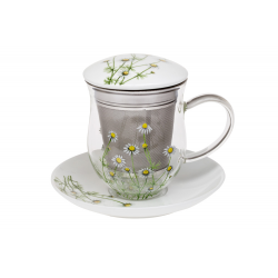 Chamomile - glass mug 0.35 l