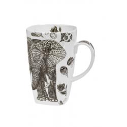 Black Elephant - porcelain mug 0.6 l