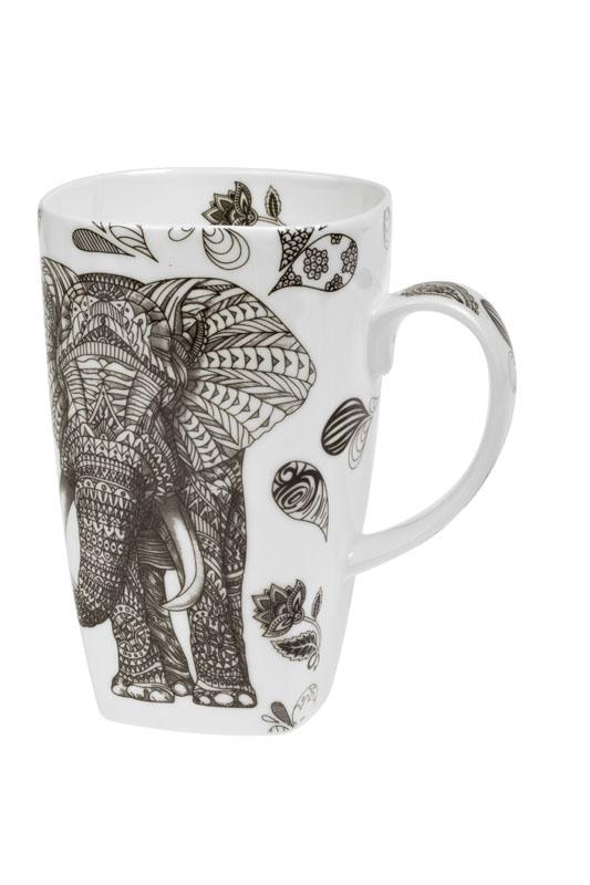 Černý slon 0,6 l - bone china hrnek