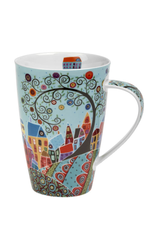 Village View - porcelain mug 0.6 l