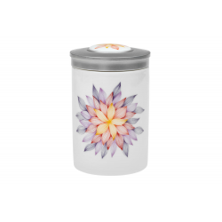 Mandala Hope - porcelain caddy with a lid