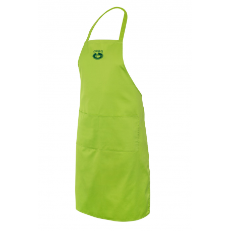 Apron with a pocket - light green