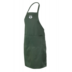 Apron with pocket - dark green