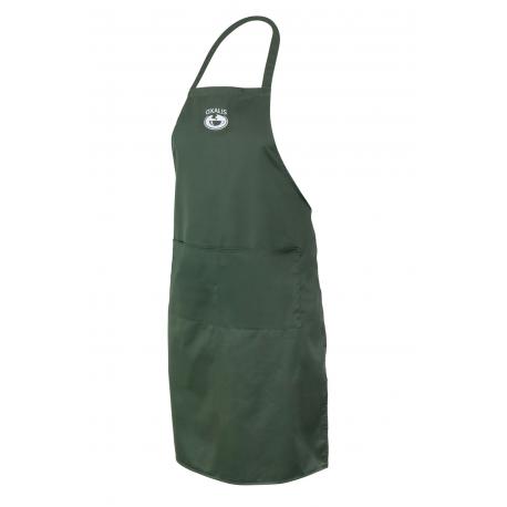 Schürze mit Tasche - dunkelgrün