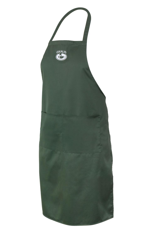 Zástěra s kapsou - tmavě zelená