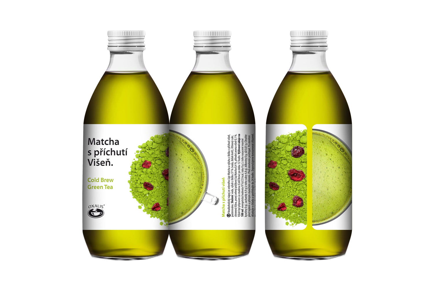 Matcha with sour cherry flavouring - Cold Brew Green Tea 330 ml