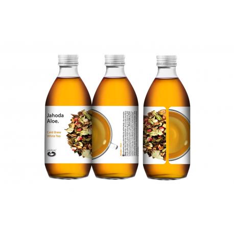 Jahoda - aloe - Cold Brew White Tea 330 ml