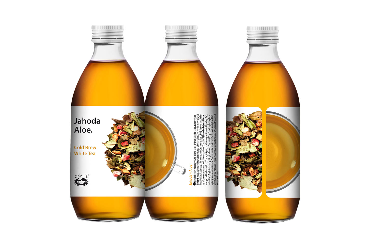 Jahoda - aloe - Cold Brew White Tea 330 ml
