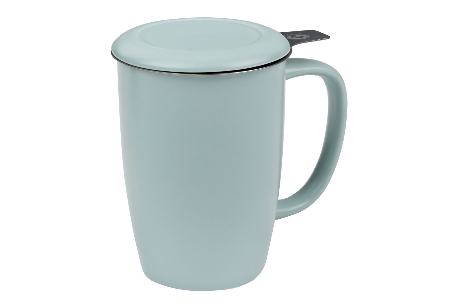 Kai 0.44 l - porcelain mug with a stainless steel strainer and lid