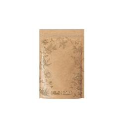 ECO-friendly compostable zip bag - brown 250 g