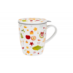 Christmas traditions - infuser mug 0.35 l with stainless steel strainer and lid